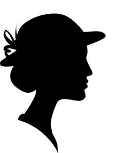 Silhuet kvinde